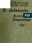 Jadassohn Manual of Counterpoint