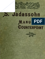Jadassohn Manual of Counterpoint