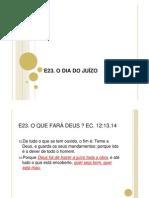 E23 -  O DIA DO JUÍZO
