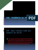 E26 - EVIDÊNCIA DA TRINDADE