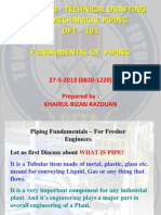 Tdmp 1013 - Technical Drafting for Mechanical Piping