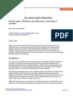 cloud computing VS Grid Computing