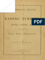 Complete System of raising turkey, hens and geese