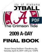 Alabama Crimson Tide A-Day Final Stats