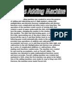 Complete Pascal Adding Machine Report (Minus Energy Transfer Diagram)
