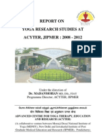 REPORT ON YOGA RESEARCH STUDIES AT ACYTER, JIPMER