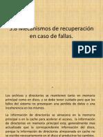 Mecanismos de Recuperacion en Caso de Fallas