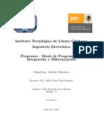 Programa Para Integracion Trapecio, Simpson y Derivacion Por Richardson