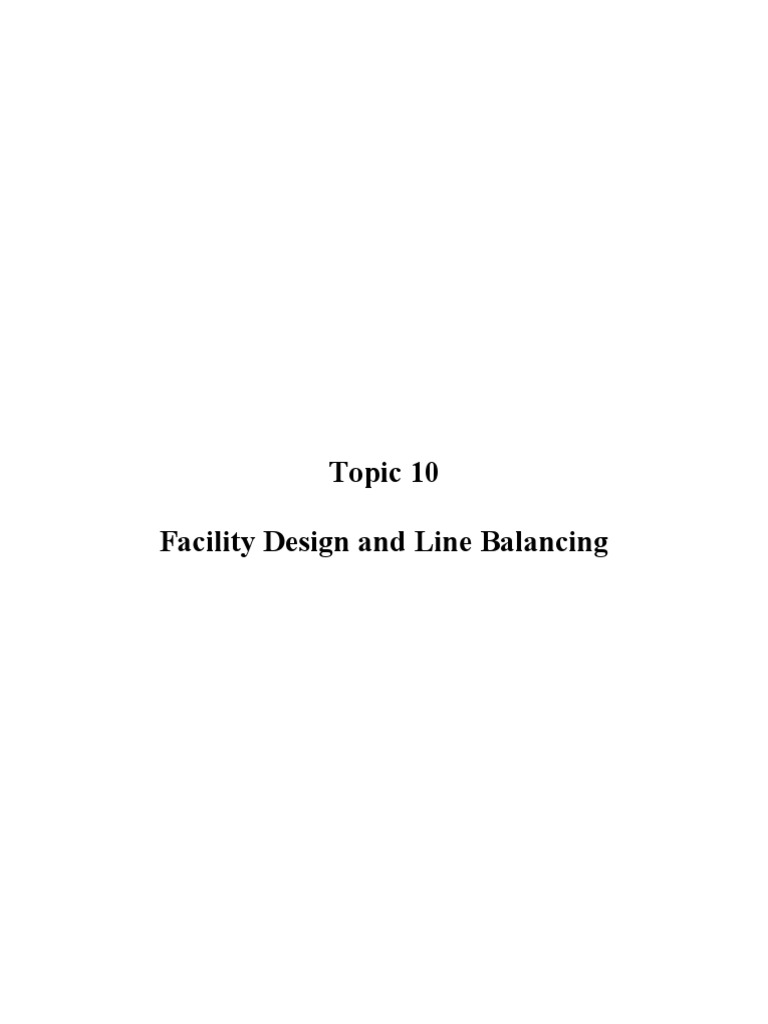 Facility design and line balancing mathematical optimization facility design and line balancing mathematical optimization production and manufacturing pooptronica Choice Image