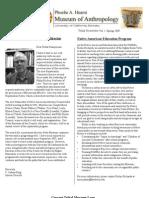 PAHMA tribal newsletter (Spring, 2009)