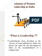 Evolution of Women Leadership in India