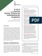 tratamiento de la HTA. criterios de individualización terapeutica