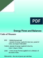 Energy Flows and Balance
