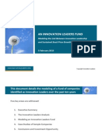 An Innovation Leaders Fund - Modeling the Link to Growth