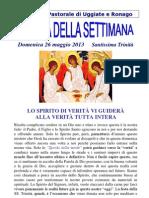 Comunità Pastorale di Uggiate e Ronago Agenda della Settimana Trinità