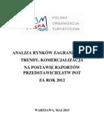 Analiza rynków zagranicznych (POT 2012)