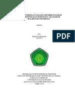 Pengaruh Penerimaan Pajak Dan Retribusi Daerah Terhadap Peningkatan an Asli Daerah Di Kabupaten Ponorogo