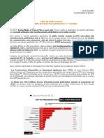 CP Veille Media Courrier Kantar Media & France Pub