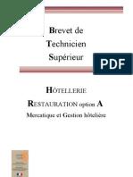 Bts Hotellerie Restauration Option A