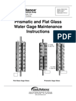 R500 E153C Prismatic and Flat Glass Water Gage Glasses