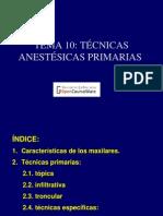 Tecnica de Anestesia