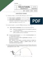 Ficha de Trabalho - Derivadas
