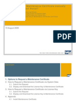 How to request Maintenance Certificate manually through SAP Support portal