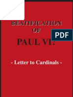 Beatification of Paul VI? Letter to Cardinals by Don Luigi Villa