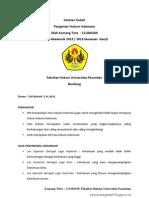 Catatan Kuliah Pengantar Hukum Indonesia