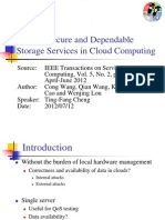 Toward Secure and Dependable Storage Services in Cloud Computing