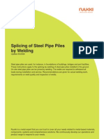 Ruukki Splicing of Steel Piles by Welding