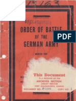 Order of Battle of the German Army-March 1945
