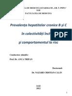 Epidemiologie Hepatita c
