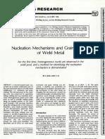 Nucleation Mechanisms