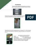 Bioquimica i - Procedimiento- Resultado- Concluciones