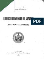 Ildefonso Schuster, Il monastero imperiale del Salvatore