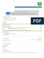 Booking Confirmation JZL9SB