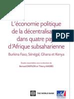 L'économie politique de la décentralisation en Afrique Subsaharienne