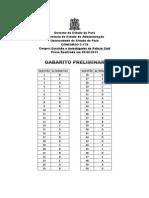 Pcivil2013 Gabarito Preliminar Escrivao Investigador
