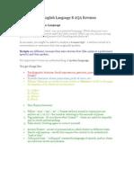 As English Language B AQA Revision Booklet