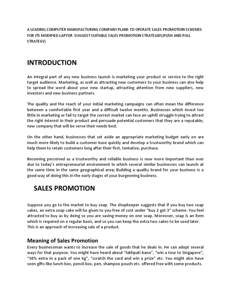 what does sales promotion mean
