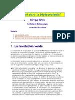 Un papel para la biotecnología