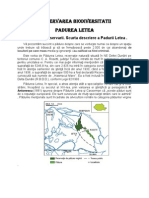 Conservarea Biodiversitatii-Padurea Letea
