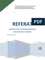 Referat Managementul Relatiilor Cu Clientii