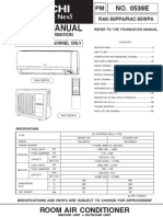 hitachi 0539e( Rak 50 ppa Wpa )Rev01 | Air Conditioning | Hvac