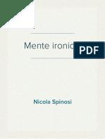 Nicola Spinosi - La mente ironica. Narrazione e interpretazione