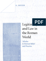 Legitimacy and Law in Roman World