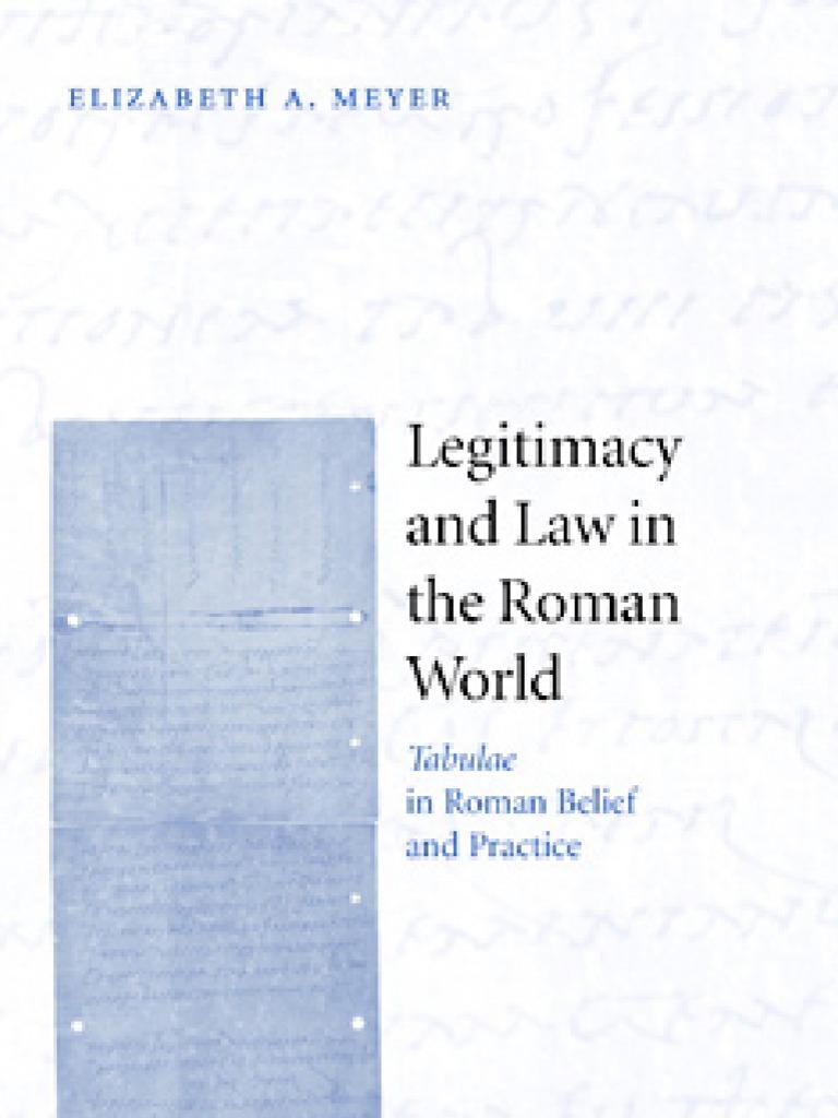 Legitimacy and Law in Roman World | Rituals | Magic (Paranormal)