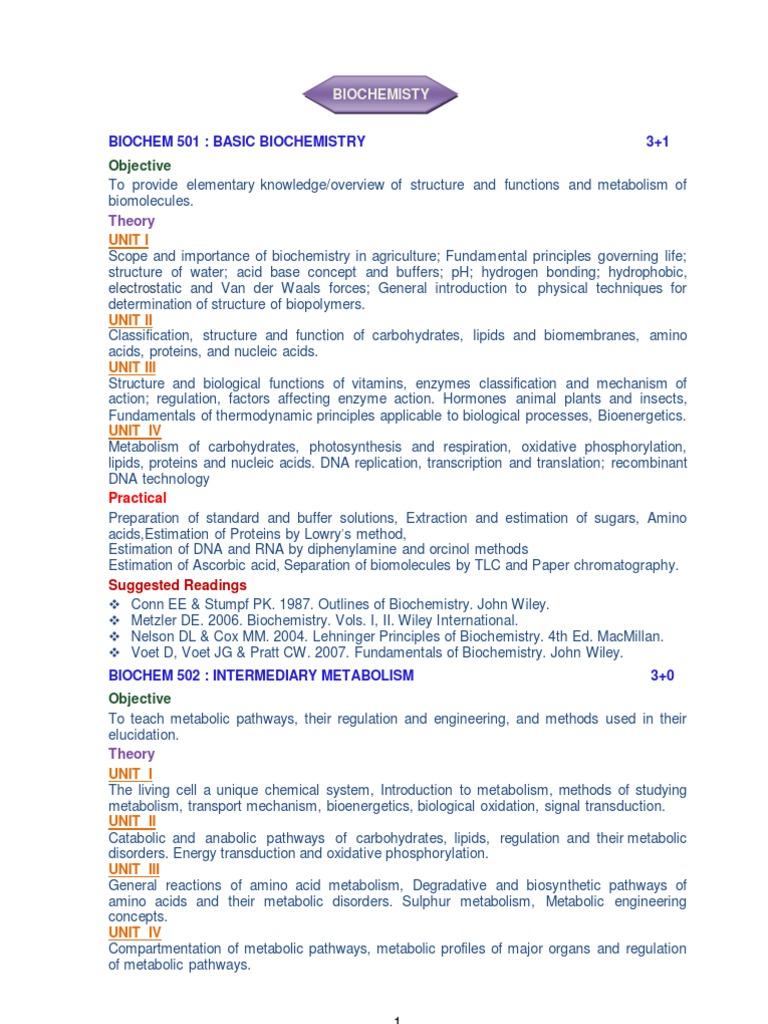 Download pg syllabus enzyme metabolism fandeluxe Gallery