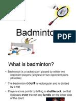 Presentation for School Badminton 2